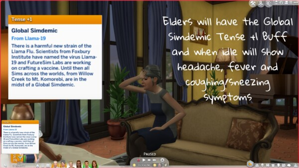 Global Simdemic Llama19 by CommodoreLezmo from Mod The Sims