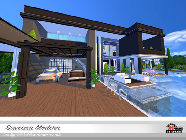 Suveena Modern House by Autaki from TSR