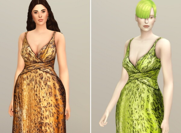 Yellow Leopard Gown from Rusty Nail