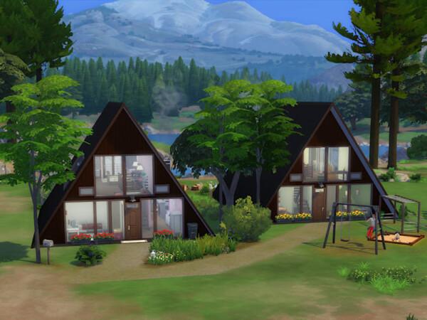 Bjorli Cabin   cc free from KyriaTs Sims 4 World