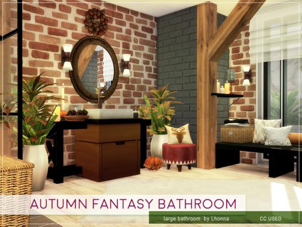 Autumn Fantasy Bathroom by Lhonna from TSR