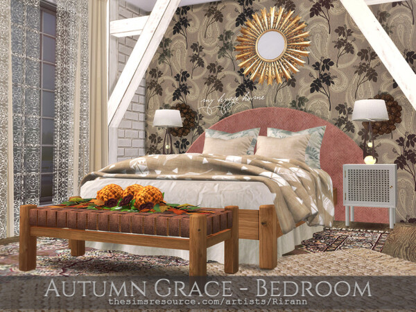 Autumn Grace Bedroom by Rirann from TSR