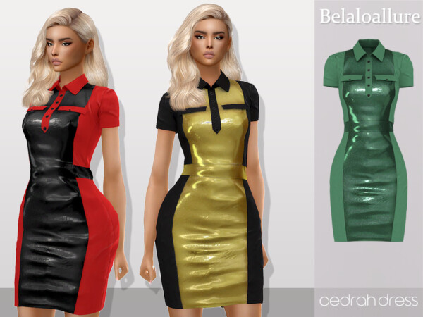 Belaloallure Cedrah dress by belal1997 from TSR