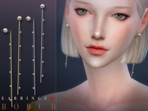 Earrings 29 by Bobur from TSR