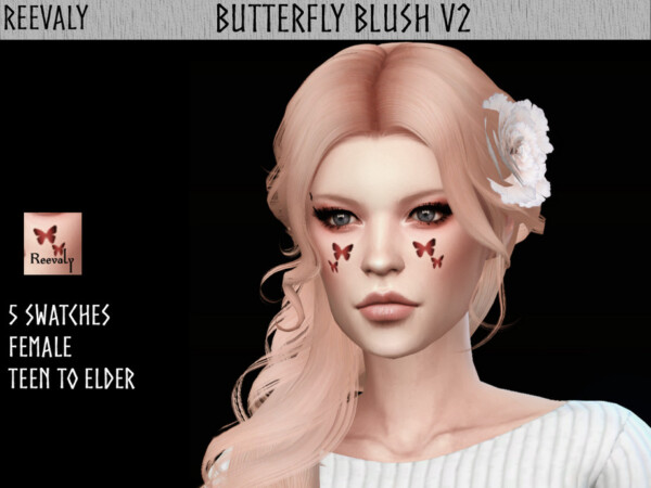 Butterfly Blush V2 by Reevaly from TSR