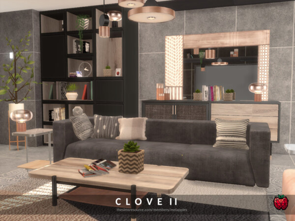 Clove Livingroom by melapples from TSR