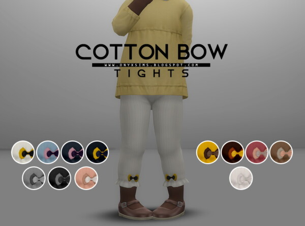 Cotton Bow Tights from Onyx Sims