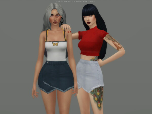 Croissant Skirt from Candy Sims 4