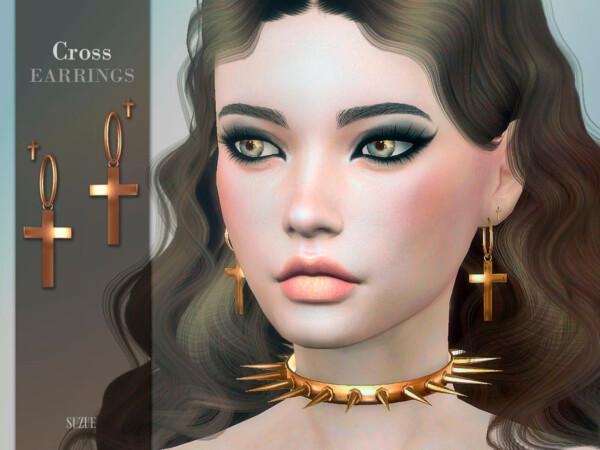 Cross Earrings by Suzue from TSR