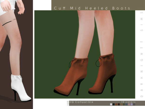 Cuff Mid Heeled Boots by DarkNighTt from TSR