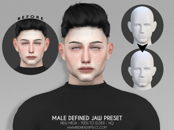 Defined Jaw Preset from Red Head Sims