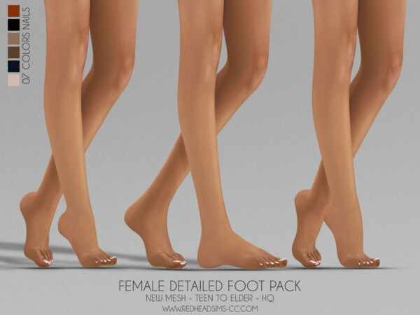 Detailed foot pack from Red Head Sims
