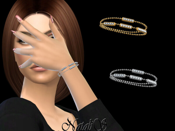 Diamond bar bracelets by NataliS from TSR