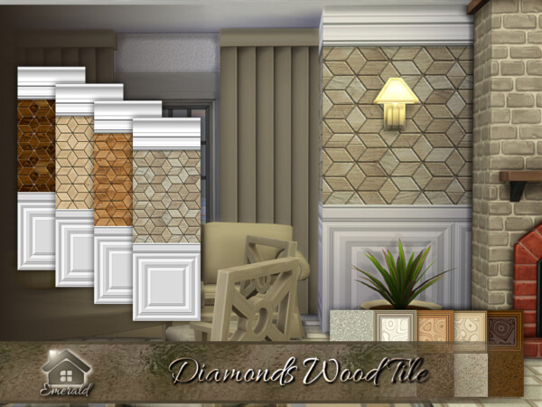Diamonds Wood Tile by emerald from TSR