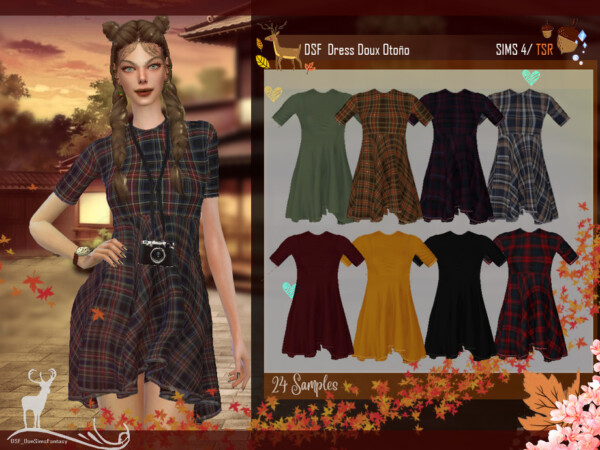 Dress Doux Autumn by DanSimsFantasy from TSR