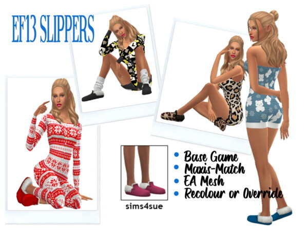 EF13 Slippers from Sims 4 Sue