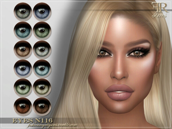 Eyes N116 by FashionRoyaltySims from TSR