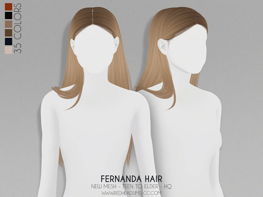 Fernanda Hair from Red Head Sims