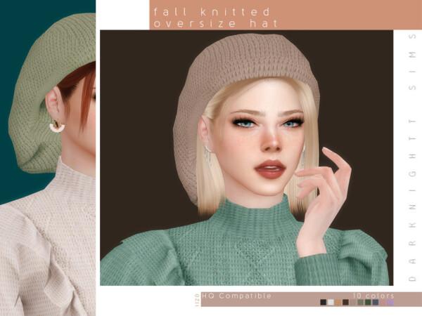 Fall Knitted Oversize Hat by DarkNighTt from TSR