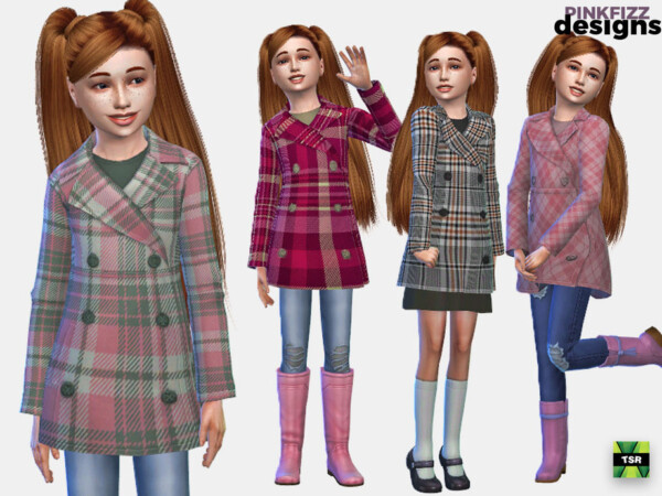 Junior Fashion Coat by Pinkfizzzzz from TSR