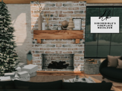 Simcredible`s Fireplace Recolored from DK Sims