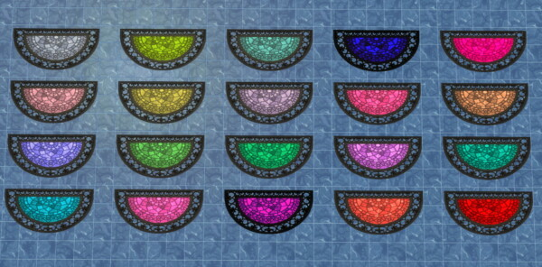 Flower of the Di Vine Half Moon Rugs by  Wykkyd from Mod The Sims