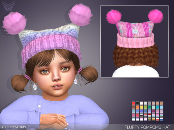 Fluffy Pompoms Hat from Giulietta Sims