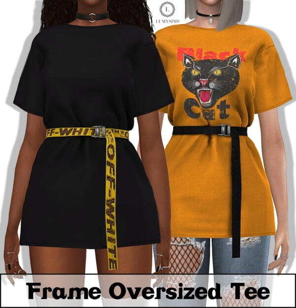 Frame Oversized Tee and Belt Accessory from LumySims
