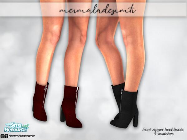 Front Zipper Heel Boots S01 by mermaladesimtr from TSR