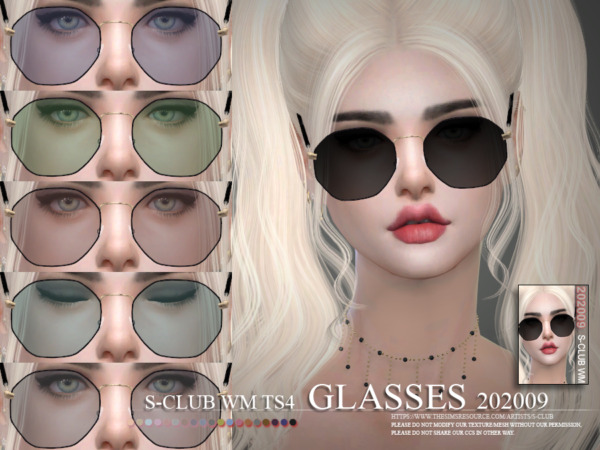 Glasses 202009 by S Club from TSR