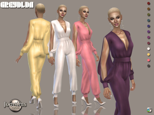Greydlda jumpsuit by jomsims from TSR