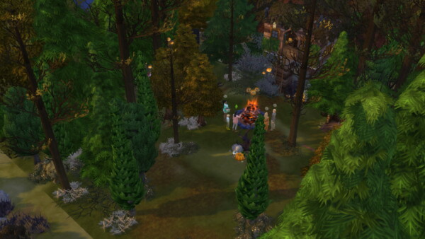 Halloween in the Woods by  AngieSims from Luniversims