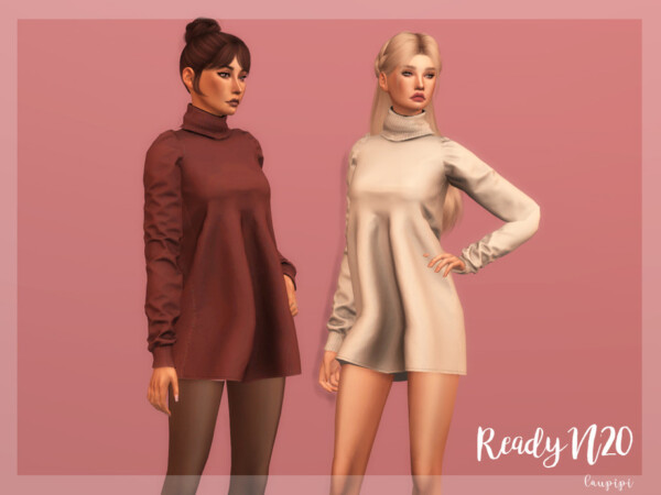 High Neck Dress DR369 by laupipi from TSR