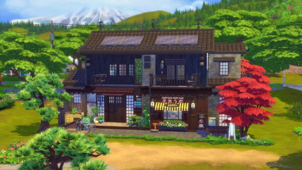 Kokedama House from Studio Sims Creation