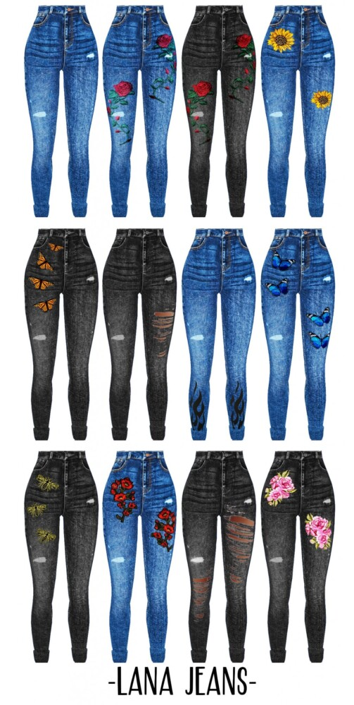 Lana Jeans from Kenzar Sims