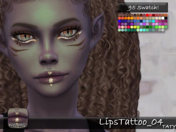 Lips Tattoo 04 by tatygagg from TSR