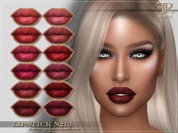 Lipstick N213 by FashionRoyaltySims from TSR