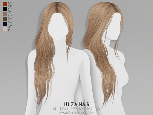 Luiza Hair from Red Head Sims