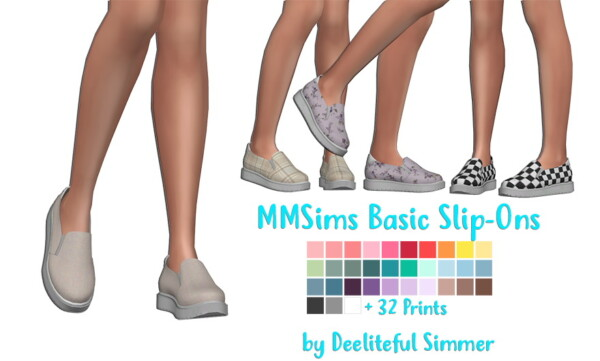 MMSIMS Basic Silp Ons Recolored from Deelitefulsimmer