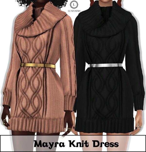Mayra Knit Dress from LumySims