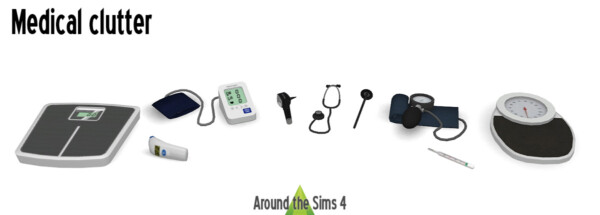 Medical clutter from Around The Sims 4