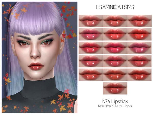 N74 Lipstick by Lisaminicatsims from TSR