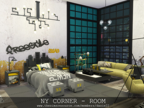 NY Corner Bedroom by dasie2 from TSR