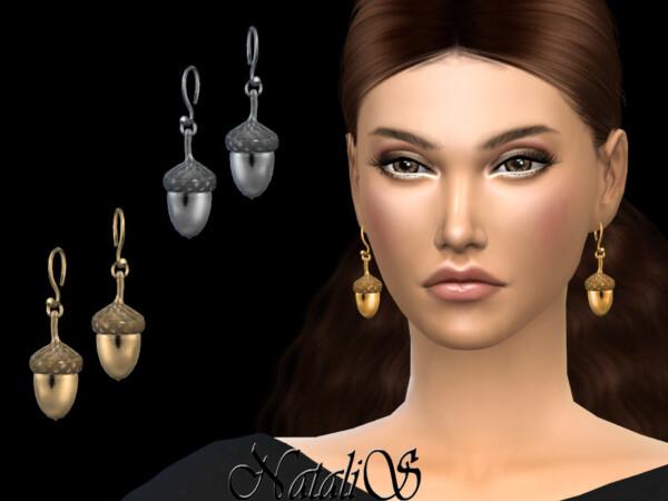 Acorn drop earrings by NataliS from TSR