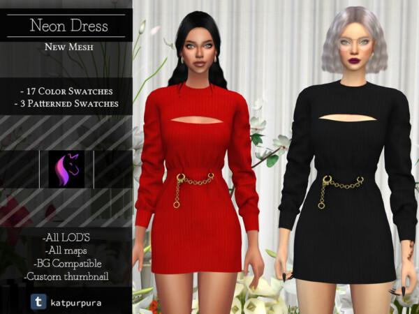 Neon Dress by KaTPurpura from TSR