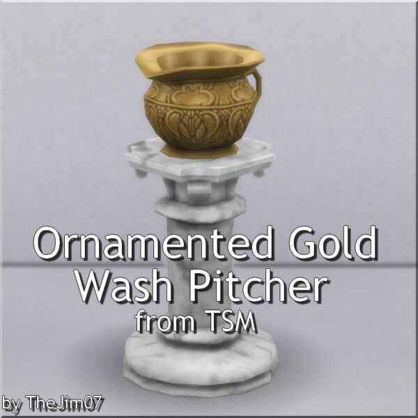 Ornamented Gold Wash Pitcher by TheJim07 from Mod The Sims