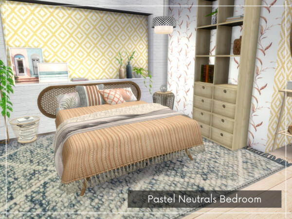 Pastel Neutrals Bedroom by A.lenna from TSR