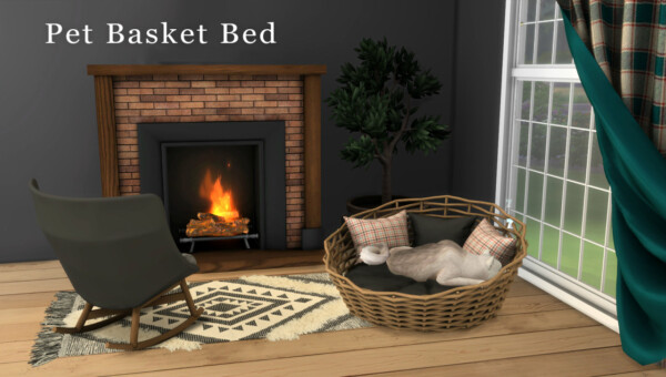 Pet Basket Bed from Leo 4 Sims