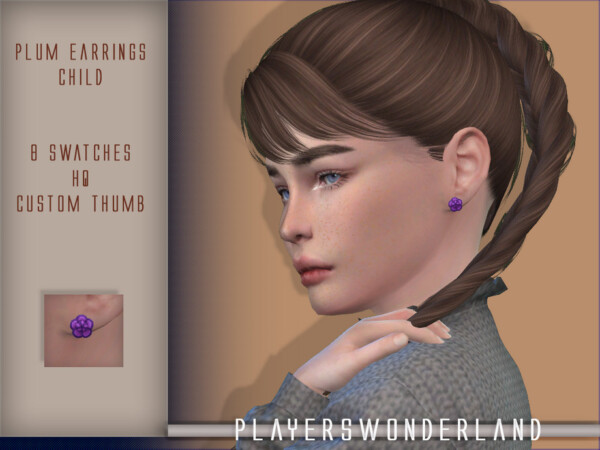 Plum Earrings by PlayersWonderland from TSR
