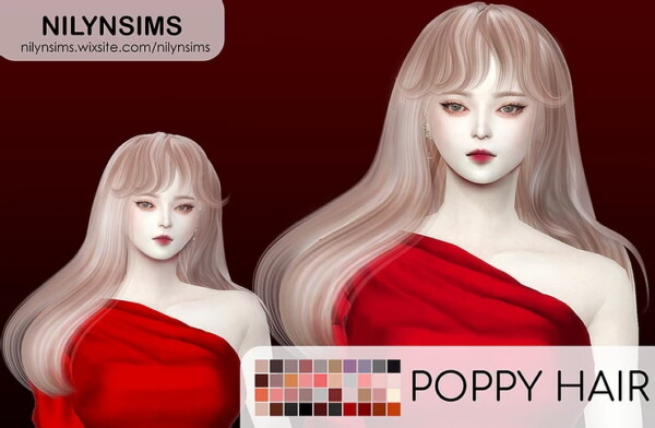 Poppy Hair from Nilyn Sims 4